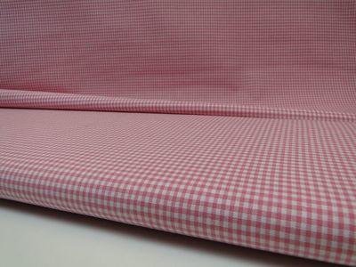 Ruit stof 2 mm -  Rose / Wit