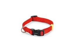 BZ Nylon Halsband Rood 26-40cm