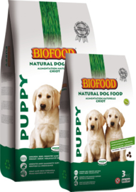 Biofood Puppy 3kg of 12,5kg. Vanaf