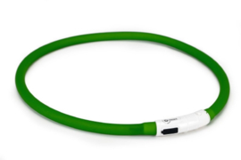 Beeztees Safety Gear USB Halsband Hond Groen