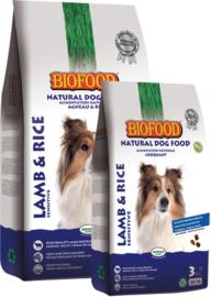 Biofood Lam & Rijst 3kg of 12,5kg. Vanaf