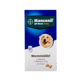 Mansonil All WormTabletten Hond 6st
