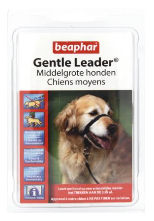 Gentle Leader rood middelgrote hond