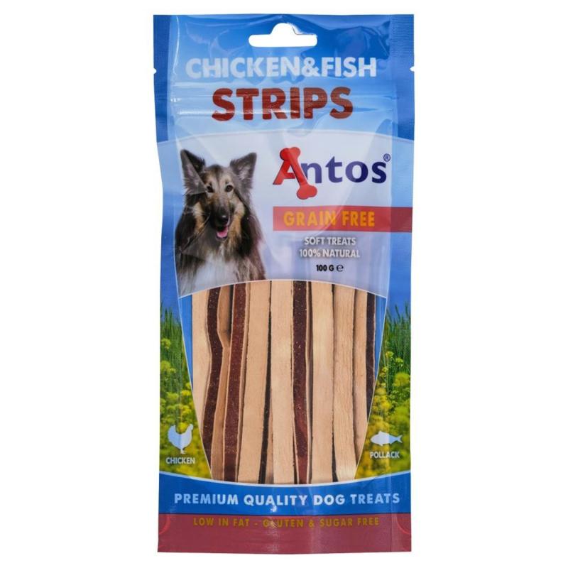 Antos Chicken & Fish strips 100gr