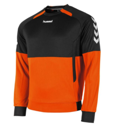 Hummel  Authentic top round neck oranje/zwart (108008-3800)
