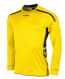 Hummel preston shirt lang geel/zwart (111005-4800)