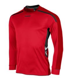 Hummel preston shirt lang rood/zwart (111005-6800)