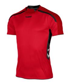 Hummel Preston shirt rood/zwart (110005-6800)