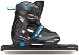 2195    Nijdam norenschaats junior verstelbaar • zwart/blauw  (Combinoor)