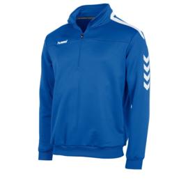 Hummel   Valencia ¼ zip  blauw/wit (108009-5200)