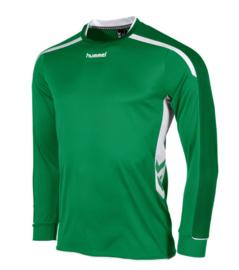 Hummel preston shirt lang  groen/wit (111005-1200)