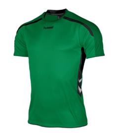 Hummel Preston shirt groen/zwart (110005-1800)