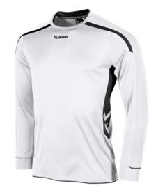 Hummel preston shirt lang wit/zwart (111005-2800)