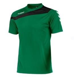 Hummel elite t-shirt groen/zwart (160100-1800)