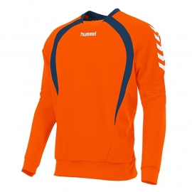 Hummel Team top round neck oranje/ navy (108108-3750)