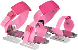 3011 Nijdam Glij-ijzers Verstelbaar • Uni Roze