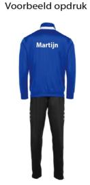 Hummel Valencia poly suit  blauw/wit (105006-5200)