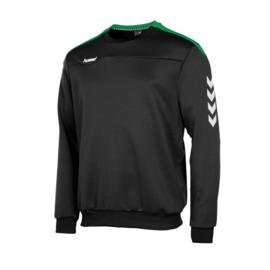 Hummel  Valencia top round neck  zwart/groen (108007-8100)