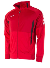 Hummel Authentic poly FZ jacket rood/zwart (108013-6800)