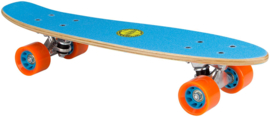 """52NL    NIJDAM SKATEBOARD 22.5"""" • FREE FLIP BOARD HOUT  • Blauw"""