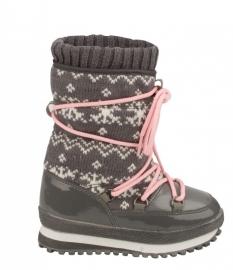 1161  Snowboot jogger boot jacquard - grijs  mt 28 t/m 35