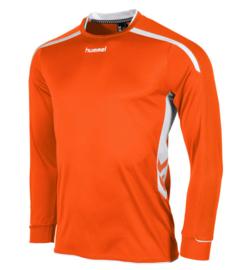 Hummel preston shirt lang oranje/wit (111005-3200)