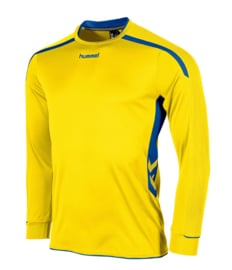 Hummel preston shirt lang geel/blauw (111005-4500)