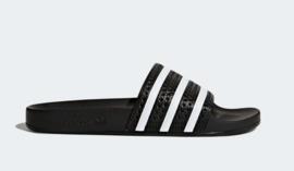 280647 Adidas Adilette slipper  |   zwart/wit