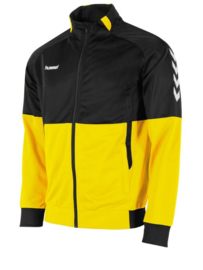 Hummel Authentic poly FZ jacket geel/zwart (108013-4800)