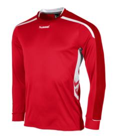 Hummel preston shirt lang rood/wit (111005-6200)