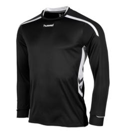 Hummel preston shirt lang zwart/wit (111005-8200)
