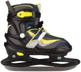 3177    Nijdam IJshockeyschaats Junior Verstelbaar •softboot zwart/geel