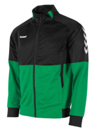 Hummel Authentic poly FZ jacket groen/zwart (108013-1800)