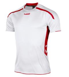 Hummel Preston shirt wit/rood (110005-2600)