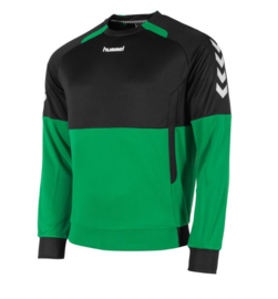 Hummel  Authentic top round neck groen/zwart (108008-1800)