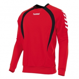 Hummel Team top round neck rood/zwart (108108-6820)
