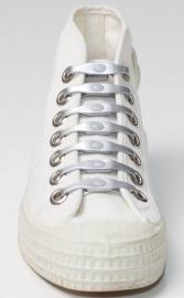 Shoeps veter elastisch ZILVER