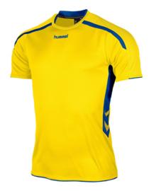 Hummel Preston shirt geel/blauw (110005-4500)