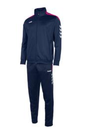Hummel Valencia poly suit navy/roze (105006-7680)