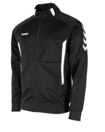 Hummel Authentic poly FZ jacket zwart/wit (108013-8200)