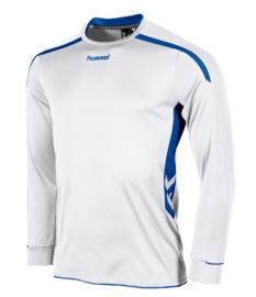Hummel preston shirt lang wit/blauw (111005-2500)