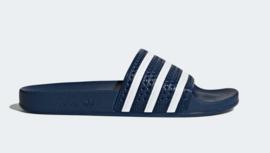 288022 Adidas Adilette slipper  |   blauw/wit