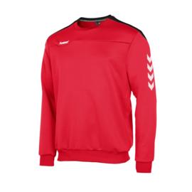 Hummel  Valencia top round neck  rood/wit (108007-6800)