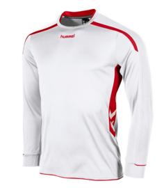 Hummel preston shirt lang wit/rood (111005-2600)