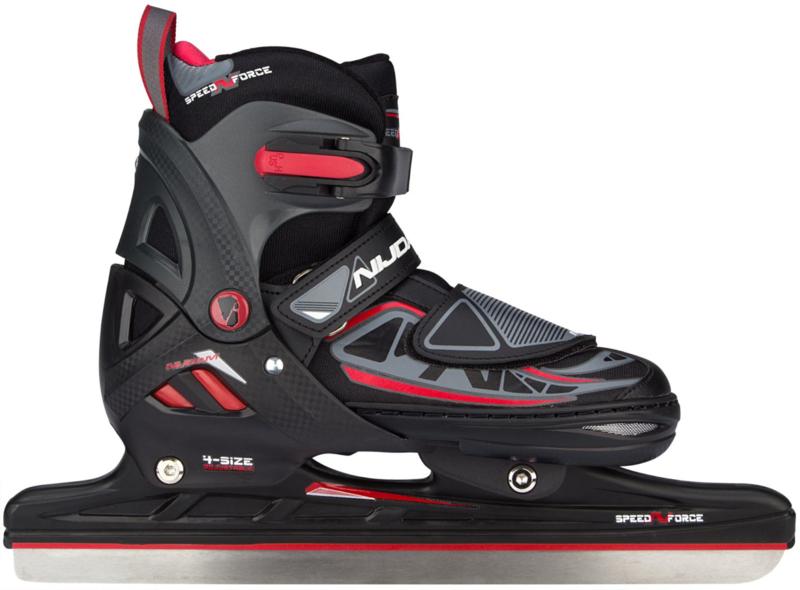 3411  Nijdam norenschaats junior verstelbaar • SEMI-SOFTBOOT •  (combinoor)