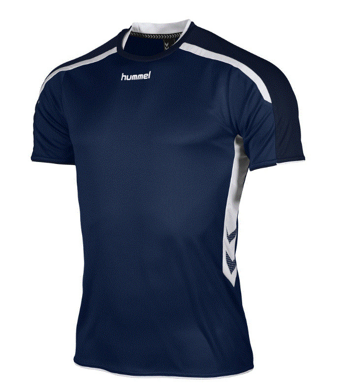 Hummel Preston shirt navy/wit (110005-7200)