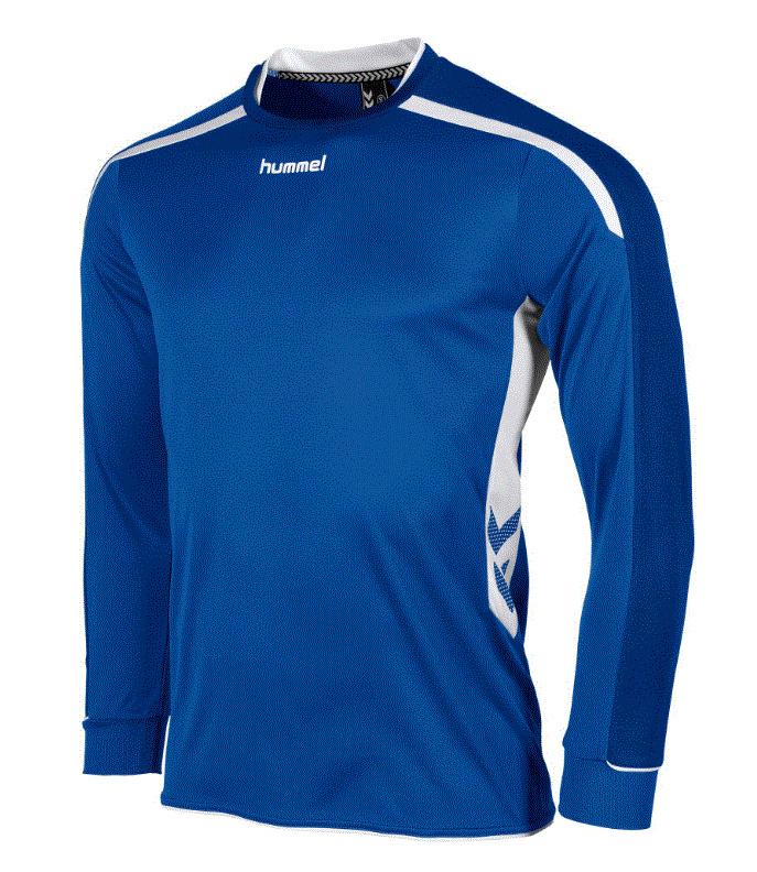 Hummel preston shirt lang blauw/wit (111005-5200)