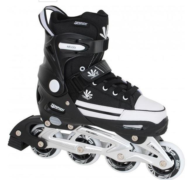 Tempish Magic Rebel inline skate verstelbaar zwart/wit