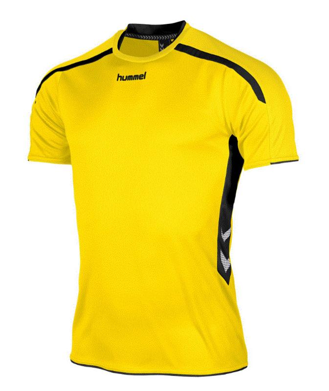 Hummel Preston shirt geel/zwart (110005-4800)