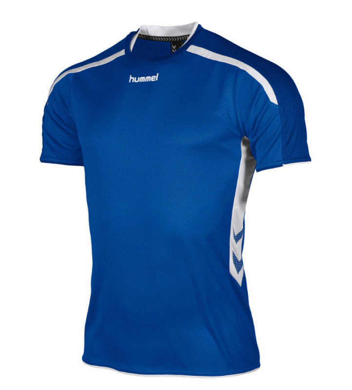 Hummel Preston shirt blauw/wit (110005-5200)